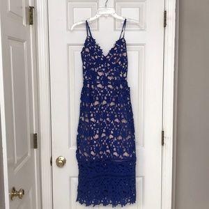LOVE ADY | chemical lace midi slip dress